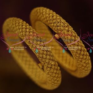 Floral Design Matte Antique Uneven Finish Latest Screw Open Design Collections Bangles Online