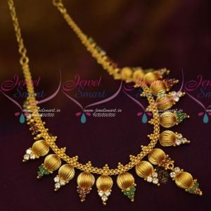 AD Multi Colour Stones Beads Design Imitation South Indian Jewellery Shop Online