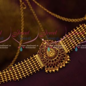 Temple Beads Design 24 - 38 Inches Suitable SIze Traditional Bahubali Movie Style Vaddanam Jewellery Online