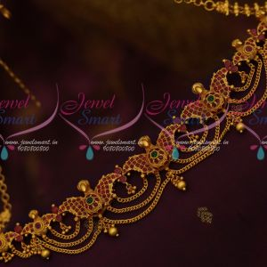 Kids Adults Antique Temple Jewellery Chain Vaddanam South Indian Matte Gold Latest Traditional Ornaments Online