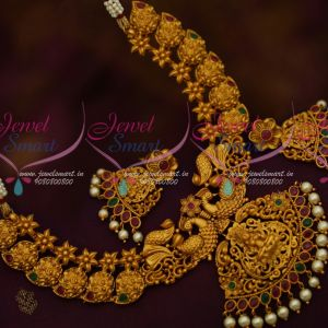 South Indian Temple Jewellery Matte Gold Latest Imitation Mango Mala Buy Online