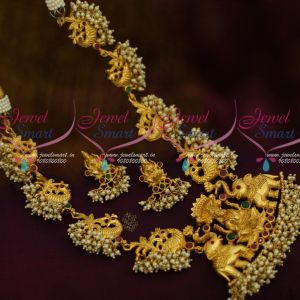 South Indian Temple Jewellery One Gram Gold Gajalakshmi Collections Latest Designs Shop Online