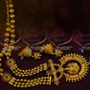 One Gram Gold Beads Mala Traditional South Indian Temple Jewellery Collections Online
