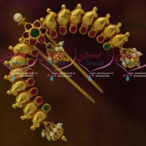 One Gram Hair Jewellery Mango Design Rakodi Yellow Gold Plated Traditional Bridal Accessory For Women Online