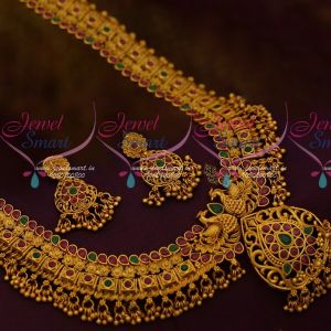 South Indian Fashion Jewellery Floral Design Broad Haram Beads Jalar Danglers Beautiful Imitation Collections