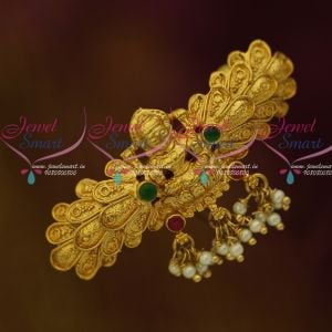 Temple Jewellery Small Size Matching Hair Clip Latest Womens Accessory Online