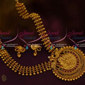 Floral Beads Design Temple Jewellery Latest Mate Gold Imitation Collections Shop Online