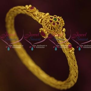 One Gram Twisted Chain Design Traditional Jewellery Screw Open Kada Bracelets Online