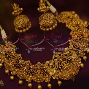 Big Broad Temple Jewellery Antique Matte Gold Latest Traditional Jhumka Earrings Shop Online