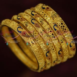 Peacock Design Jewellery 100 Milli Gram Forming Gold Bangles Latest Designs Shop Online