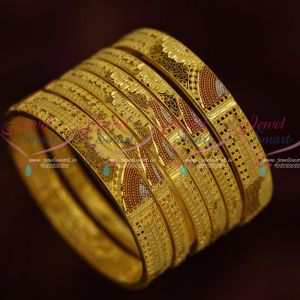 Latest One Gram Gold Fashion Jewellery Designs Meenakari Premium Bangles Shop Online
