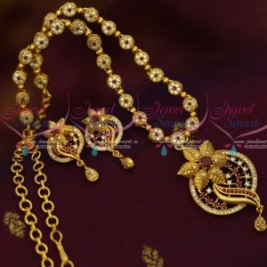 Ruby White Floral Design Gold Covering Necklace Screwback South Earrings Shop Onlinec
