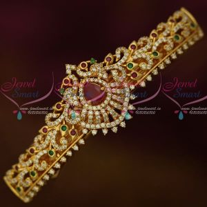American Diamond Gold Covering Hair Clip Multi Color Stones Imitation Matching Jewelry Buy Online