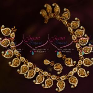Floral Engraved Mango Mala AD Multi Colour Premium Jewelry Designs Online