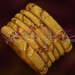 Forming Gold 100 Mg Real Look 6 Pcs Set Reddish Gheru Bangles Shop Online