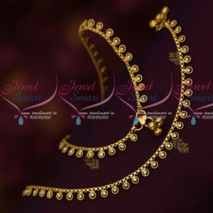 Daily Wear Gold Plated Jewelry South Indian Payal Low Price Imitation