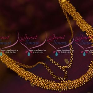 Golden Beads Design Hip Chain Fancy Design Matte Finish Plating Shop Online