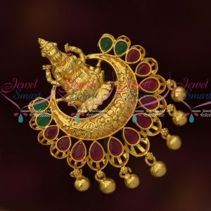 Latest Imitation South Indian Jewellery Gold Plated Pendant Ruby Emerald Stones Online
