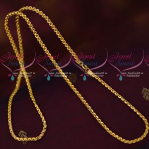 Artificial Jewellery Daily Wear Gold Plated Chains 2.5 MM Thick 24 Inches Length