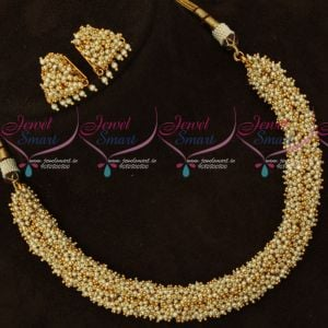 Pearl Laria Necklace Matching Earrings Latest Fashion Jewellery Designs