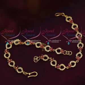 American Diamond Stones Gold Plated Jewellery Ear Mattal Chain Accessory Online