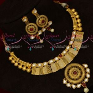 Light Gold Plated Kundan Meenakari Pink Colour Matte Look Fashion Jewellery