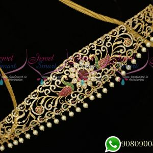 American Diamon Fancy Hip Chains Latest Trendy Bridal Jewellery Designs