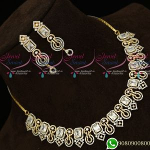 Gold Silver Plated Diamond Finish Fashion Jewellery Semi Precious Stones