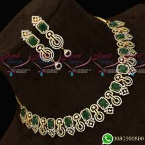 Gold Plated Diamond Finish Green White Fashion Jewellery Semi Precious Stones