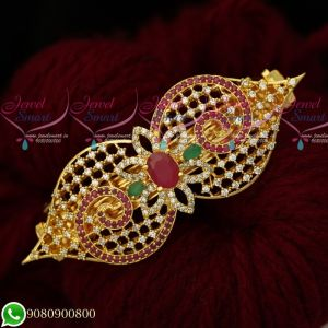 Gold Plated Hair Clips AD Multi Color Premium Quality Imitation Jewellery