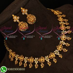 Simple Trendy Temple Traditional Antique Jewellery Set Reasonable Prices