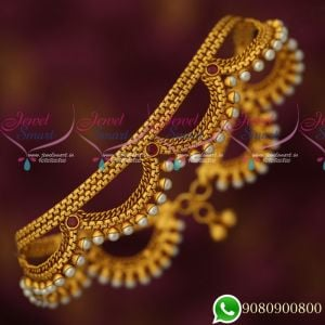 Payal Anklets Antique Jewellery Gold Plated Matte Look Broad Grand Designs Online