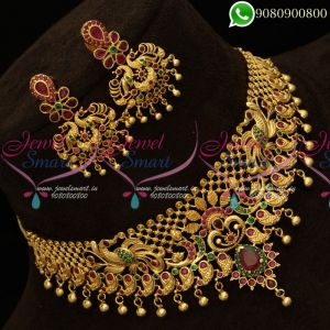 Choker Necklace Matching Peacock Earrings Online