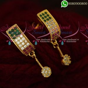Earrings For Girls Gold Plated Fashion Jewellery Designs