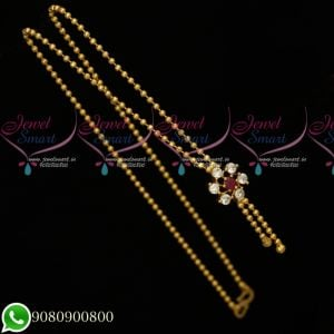 Gold Plated Chain Beads Design Simple Look Daily Wear Imitation Jewellery Online