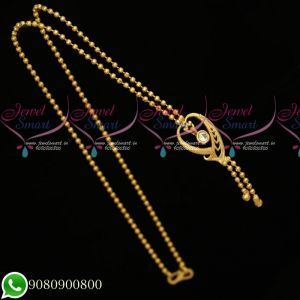 Gold Plated Simple Design Chain Look Daily Wear Imitation Jewellery Online