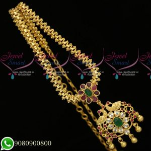 Gold Plated Jewellery South Indian Designs Chain Pendant Daily Wear Collections