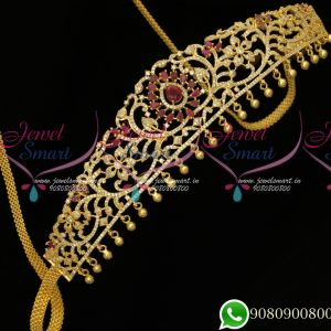 Hip Chains Gold Plated Ruby Stones Bridal Design Jewellery  Small Size