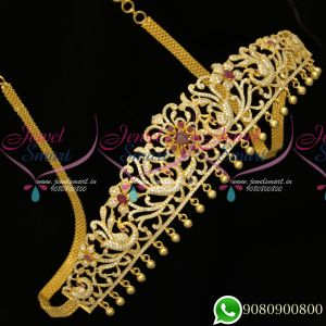 Hip Chains Gold Plated Bridal Ruby Jewellery Designs Latest Online