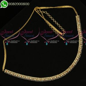Hip Chains Simple Designs American Diamond Stones Jewellery Shop Online