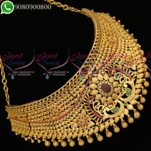 Choker Necklace One Gram Gold Plated Designs Latest Fashion Jewellery Collections