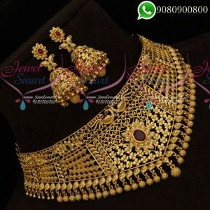 Choker Necklace Design One Gram Gold Plated Latest Wedding Jewellery Collections