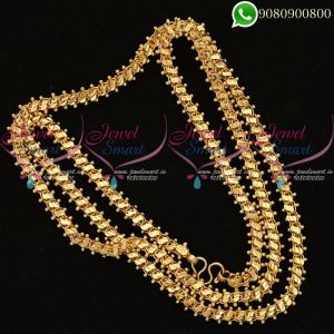Fancy Design Gold Plated 30 Inches Chain Artificial Jewellery