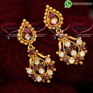 Earrings Online Ruby White Jewellery Matching Designs