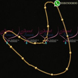 Ball Chain Gold Plated Thin Fancy Imitation Artificial Jewellery