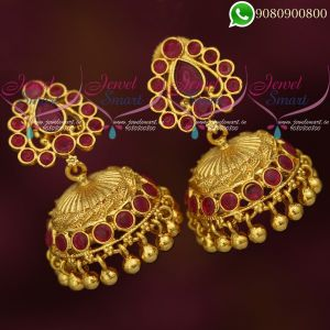 Ruby Jhumkas Online Traditional South Indian Jewelry Online