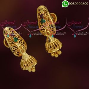 Small Jhumkas Gold Covering Daily Wear 6 Months to 1 Year