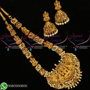 Temple Jewellery Gold Plated Nagas Traditional Design Necklace Set