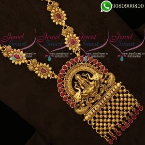 Temple Jewellery Antique Gold Plated Ruby Stones Jewelry