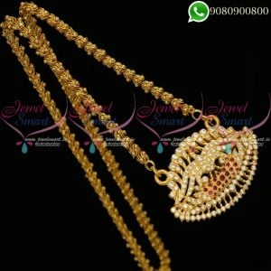Chain Pendant Gold Plated South Indian Jewellery Designs Online